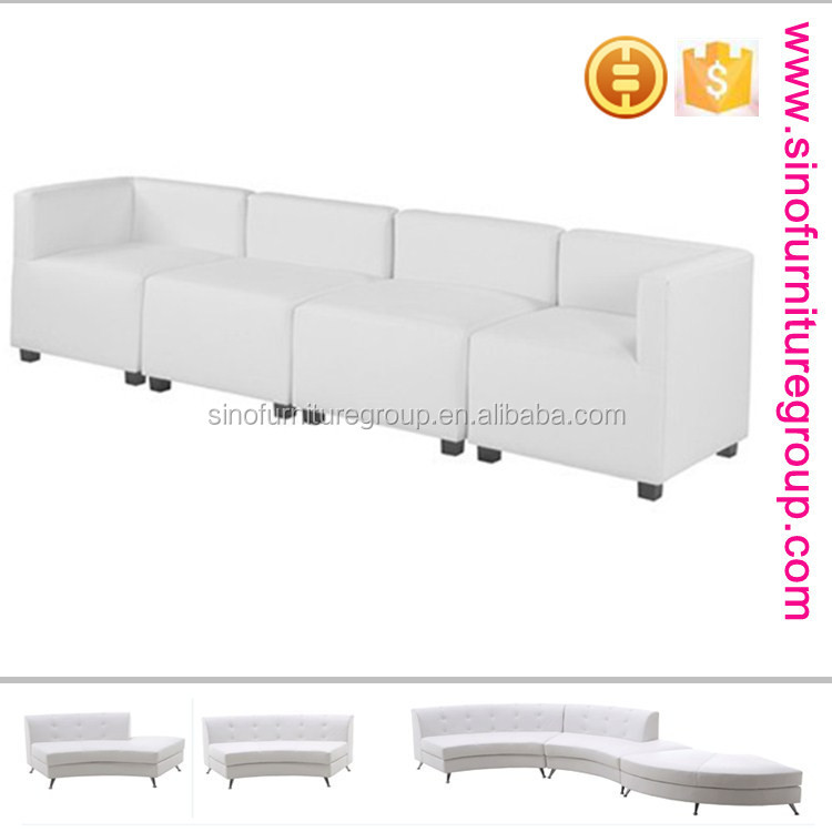 sinofur white cheap sectional sofa