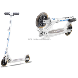 All aluminum Folding adult frog kick scooter with big wheel,,big wheel kick scooter for adult kick scooter