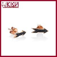 alibaba express china 925 silver mirror polish arrow earrings,gold jewelry jhumke earring jewellery wholesale
