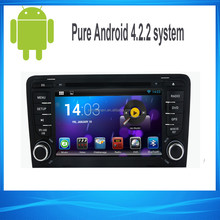 7inch 2din Capacitive touch screen android 4.4 car stereo for Audi A3 OBD II 3G WIFI
