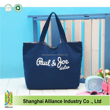 Sweet Casual Canvas Tote Bags, Large Capacity Navy Blue Cotton Hand Bag,eco-friendly Shopping bags