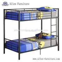 High Quality Black Finish Metal Twin over Twin Bunk Bed