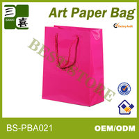 paper bag with bow tie ribbon is handmade and cheap for shopping bads