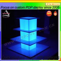 led lights decoration acrylic wedding cake stand