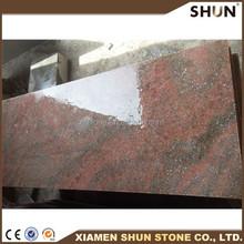 natural China Multi red granite slab&countertop granite raw block