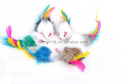 Rabbit Fur Cat Catch Mouse Toy