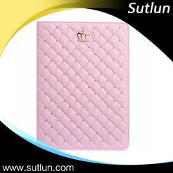 Bling Rhinestone Crown Tablet Leather Flip Case For Apple iPad 2 3 4 iPad Air Air 2 mini 1 2 3