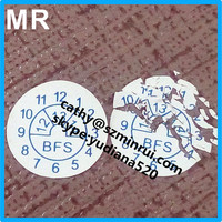 UDV label material self adhesive type custom warranty egg skin security stickers,anti-counterfeiting warranty stickers with date