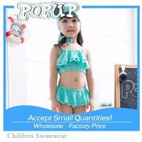 2015 New Arrival Sexy Show Navel Tops Micro Bikini For Little Girl Beach Dress