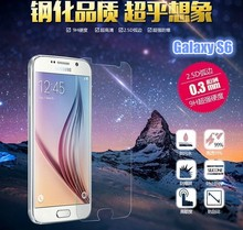 2015 NEW HOT SALE 2.5D Privacy / Clear Tempered Glass Screen Protector For Galaxy S6 Protectors