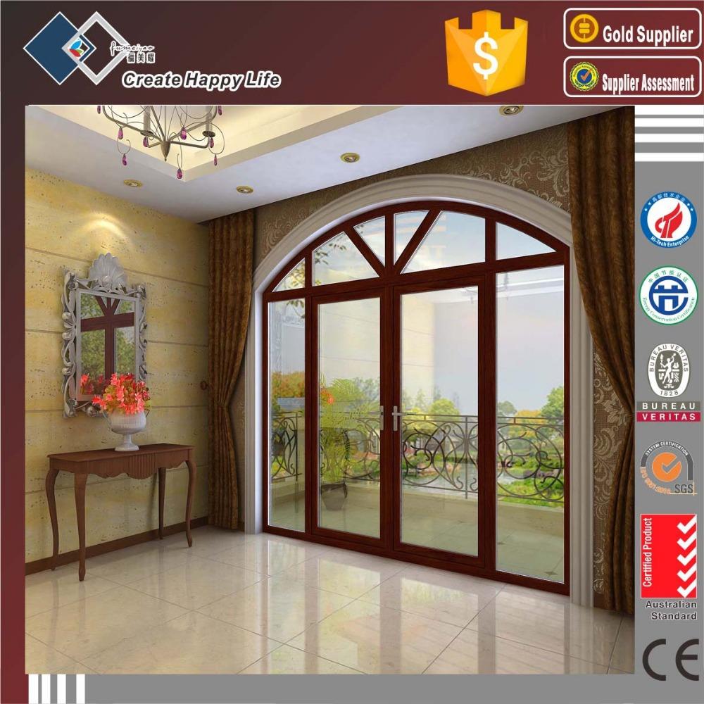 Estilo europeo construcci n arqueada aluminio ventanas y for Puertas en forma de arco