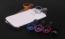 Hot sell super wode 0.4 X lieqi universal clip lens , Cute cannon lens .