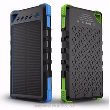 8000mAh Solar Power Bank Charger Solar Cell Phone Charger Solar Panel Charger For Mobile Phones