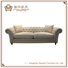 Popular Classic French Style Fabric Covered Tufted Chesterfield Sofa
