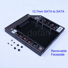 2nd HDD Hard Drive Bay Caddy 12.7mm SATA to SATA for Laptops Universal CD/DVD-ROM