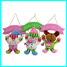 Venta al por mayor nuevo diseño de juguetes de peluche Widget / vacaciones decoraciones de la puerta / reno decoración de la pue