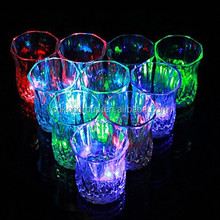 party supplier led mat coaster bottle pad flash drinking cup, light up led luminous wine goblet,led glowing cup 5 party club