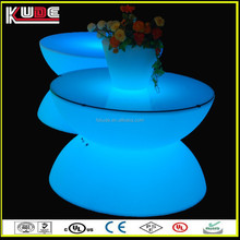 bright colored led furniture table for coffee shop