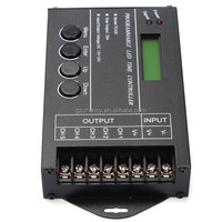 High Quality DC12-24V 20A 5 Channel Output Computer Programmable Led Time Controller TC420 Assemble With USB Cable And CD-ROM