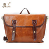 Qiwang European authentic oil genuine leather handbag with satchel style women shoulder or tote handbag