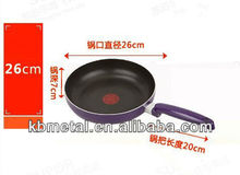 aluminium non-stick fry pan with glass lid