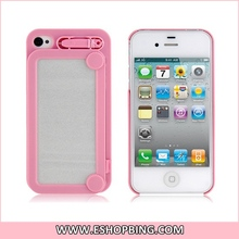 Ifoolish Writing Pad Design Protective Case for iphone 4 4S Pink