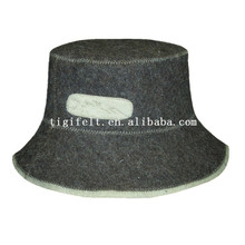 woman wool felt sauna hat