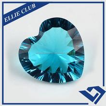 Factory Price Aquamarine cz stone / Heart Aquamarine CZ Gemstone