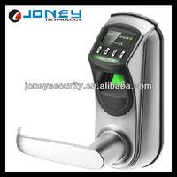China Supplier Zinc Alloy OLED Display Biometric Door Handle Lock Fingerprint