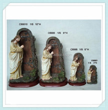 Catholic Christian decorations of resin 10'' 8''5'' 3'' jesus knock the door