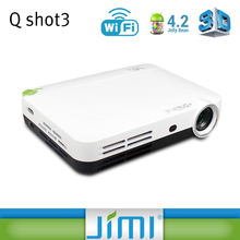 latest projector mobile phone Android projector Q shot3 with hingh lumens for home theater/ demo
