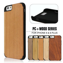 Wooden with Plastic Custom Case For Iphone 6 Case Wood