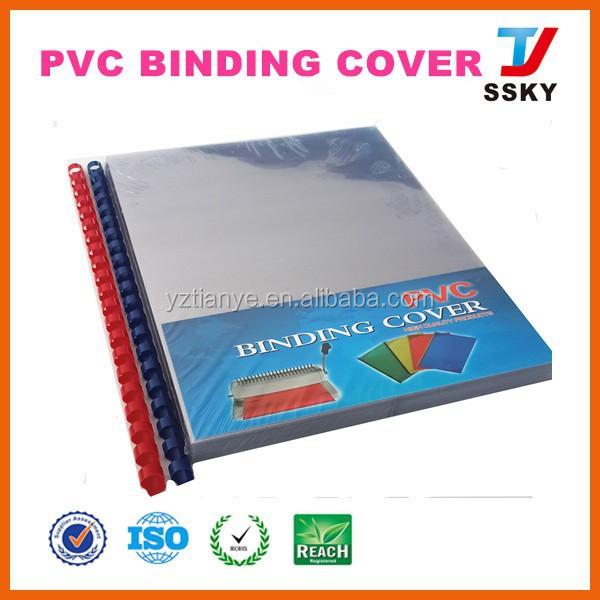 Plastic Book Cover Material : Rigid hard plastic pvc material binding cover for school