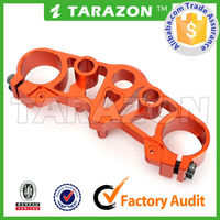 Top sale CNC milled Billet Trimple Clamp for motorcycle from China