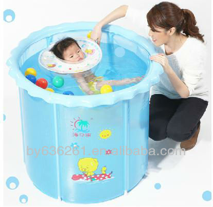 Portable gonflable petit b b en plastique dur piscine de for Piscine transportable