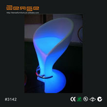 Aluminum Mould Night Club LED Furniture/ LED Leaf Bar Chair