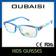 2015 nouveaux enfants lunettes cadre jaune lunettes de nouveau style enfants lunettes
