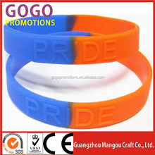 Customized cheap high quality sports silicone hand band, Eco-Friendly silicon material high quality luminous silicone hand band