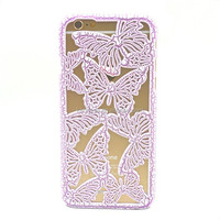 Wholesale alibaba 3D Crack Butterfly Hollow Hard Case Cover Fit For Apple iPhone 4 4G 4S