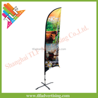 Advertising swooper feather flexible flag rod