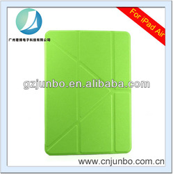 Factory price fold luxury leather case for ipad air