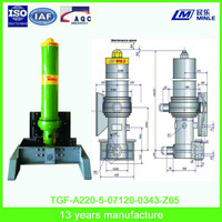 Front pushed telescopic Hydraulic Cylinder For Heavy Dump Truck