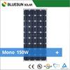 Bluesun mono 150w solar modules pv panel for home use