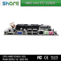 Share hot selling Mini computer X2400 thin client computer x86 AMD E240(1.5G)