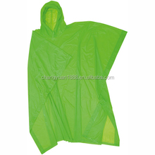 Hot sale high quality durable reusable pvc eav 100% waterproof green travel poncho
