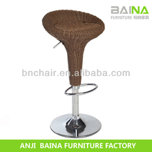 Cheap rattan vintage industrial bar stools