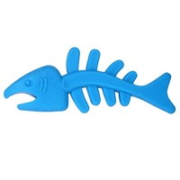 Bite-Resistant Fish Bones Pet Toys New TPR Soft Rubber Dog Toy Molar Tooth Cleaning Dog Toys