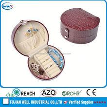 Dark Red PU Leather Description Of Jewelry Box/ Rings /Earrings Case