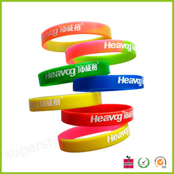 Cheap Custom Imprinted silicone wristbands, Promotation Silk Screen Silicone bracelets