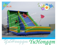 china cheap big commercial use inflatable kids and adults rock climbing wall slide combos sport games for sale